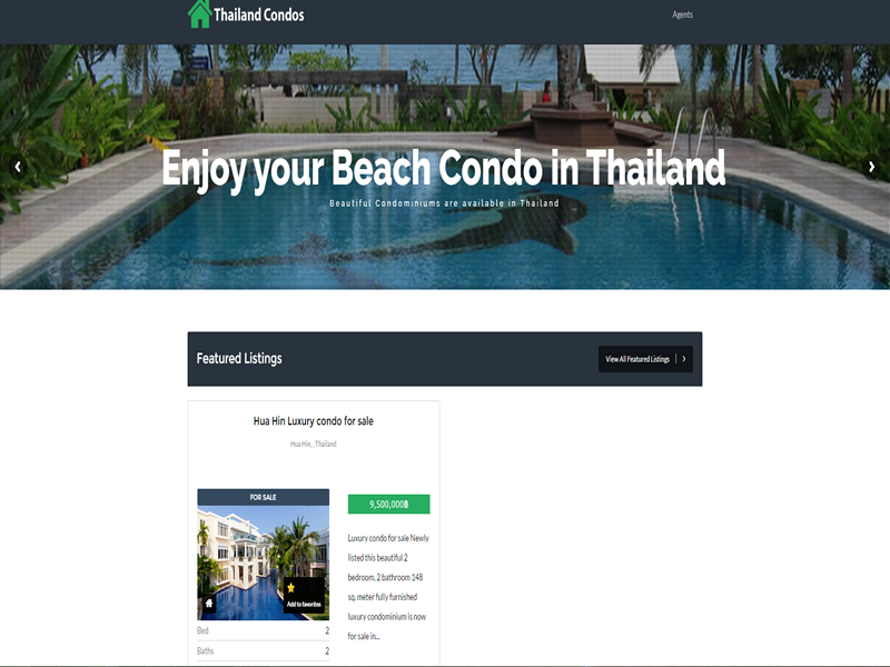 Thailand Condos for Sale is a custom website designed for the sale or rental of condominiums.
