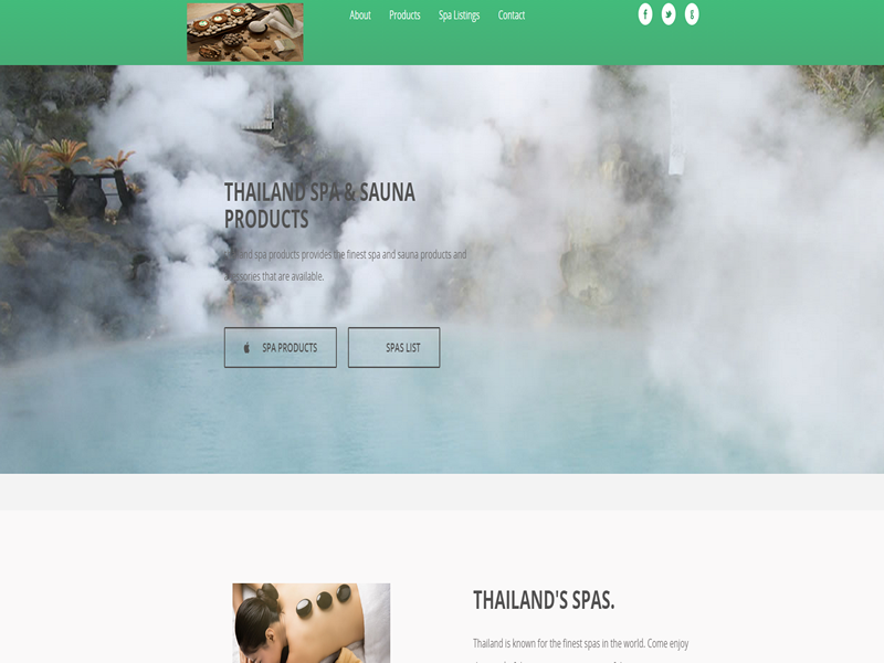 Thailand Spa Products is a basic mobile ready responsive website without database.